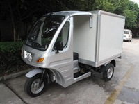 200cc closed cargo box three wheel motorcycle
