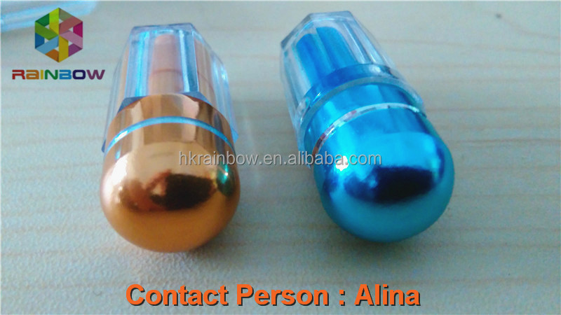 Small Plastic Octagonal Shape Capsule Bottle/Bullet/Container