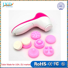 Face Cleaner 6 in 1 Electric Wash Facial Pore Cleaner Body Cleaning Massage Machine Mini Skin Beauty Care Sponge