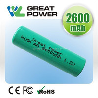 rechargeable high power 17*43MM 1.2V 4/5 A 1800 nimh Battery for model car