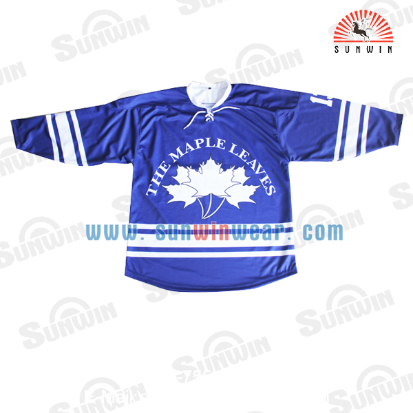 Sunwin wear custom made ice hockey jerseys