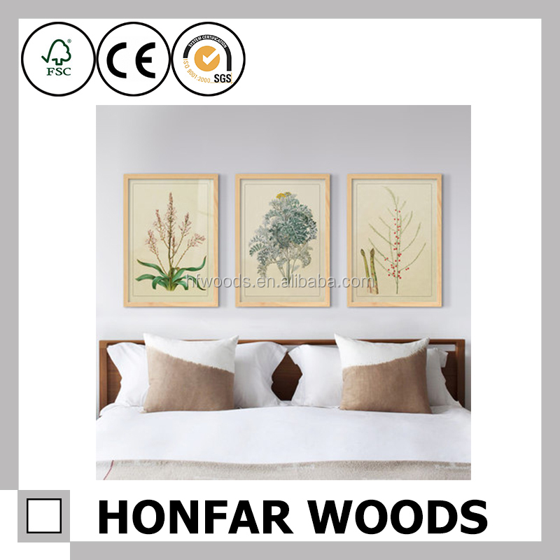 Hot-sell style snap wood wall hanging photo frames for home decor