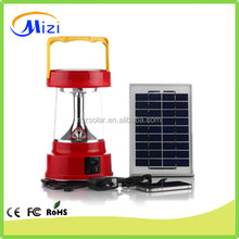 6led Portable Solar Lanterns with radio and mobile phone rechargeable electric led camping lantern for fishing, working, camping