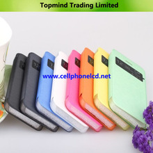 Visible Windows Side Open Flip Leather Case for iPhone 5S and 5