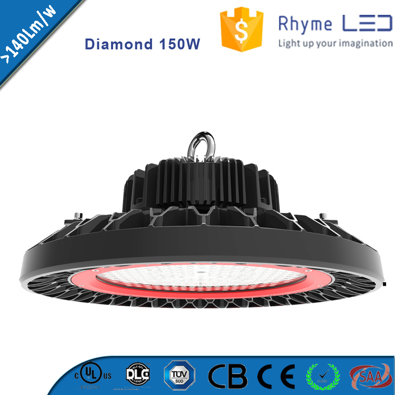 150w led glass cover high bay housing commercial lighting fixtures
