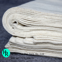 white 3mm thick 100% wool felt wholesale