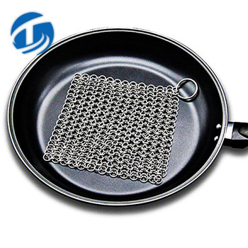 Square Steel Chainmail Pan Cleaner 316