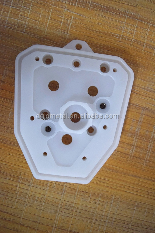 CNC machining ABS plastic Medical parts, Custom plastic machining cnc parts round white delrin 2700 spacer