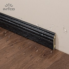 INTCO Dark Wood Base Board Waterproof Decorative Flooring Skirting Moulding