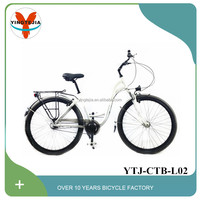 28inch retro style city bicycle with front light and carrier