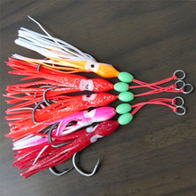 YOUME 5pcs/lot Soft Octopus Fishing Lures 13cm Trolling Squid Skirts Fishing Baits Tuna Tail Fish Tackle Craft for Jigging