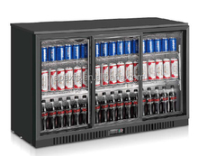 Digital controller triple door back bar underbar cooler