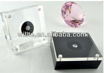 2013 customized fabulous clear acrylic single diamond display case for exclusive agency