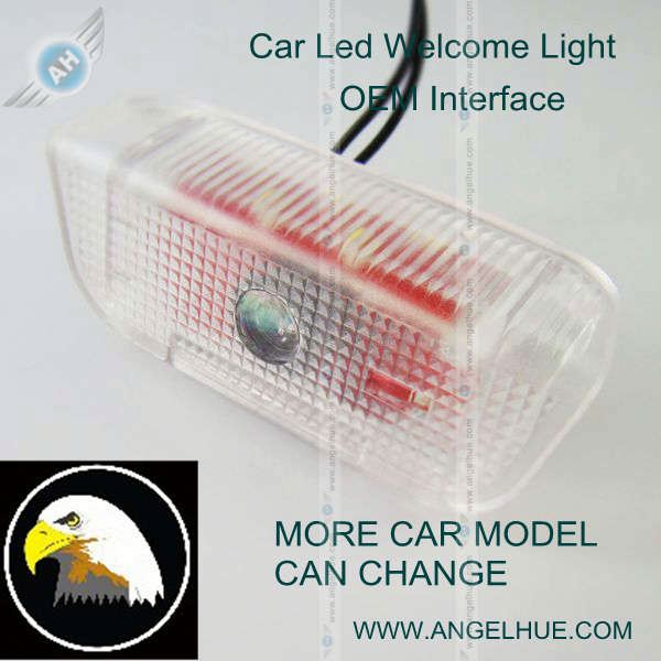 Newest style !!! car logo ghost shadow light car interior led lights