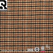 Latest Design Beautiful Luxury Houndstooth 30% Wool 70% Polyester Woven Wool Polyester Fabric For Coats