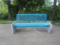 Garden decorative outdoor stone benches with solid round bar seating