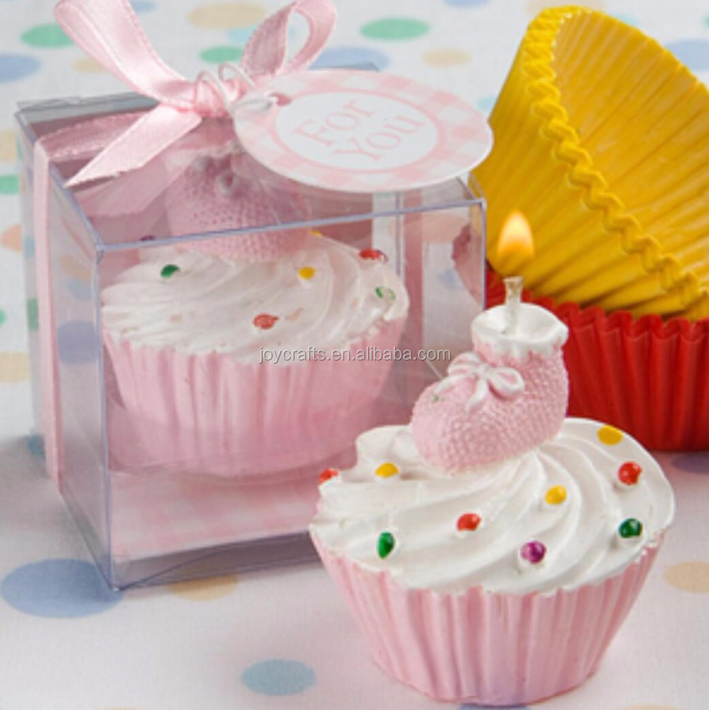 Wedding Return Gifts Pink Cupcake Candle - Buy Candle,Wedding Favors ...