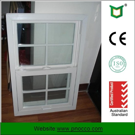 Windows And Doors Double Glass Aluminum Single Hung Window