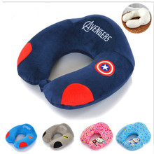 New Design U Shape Embroidery Printed Memory Foam Travel Health Neck Massage Pillow