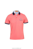 new style men solid polo shirt summer wear with logo embroidery