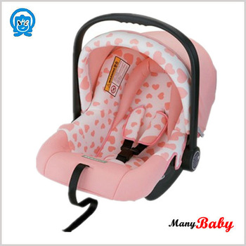 Pink Baby Car Seat with Sunroof and handle bar