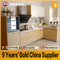 Guangzhou OPPEIN Design Wholesale Furniture High Gloss Lacquer Modular Kitchen Cabinet