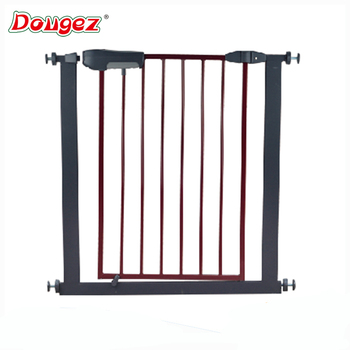High quality pressure mounted gate Metal door and fence baby safety gate
