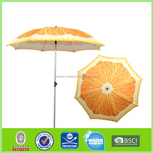 China supplier produced advertising beach umbrella hot selling on alibaba high quality wholesale cheap orange pattern