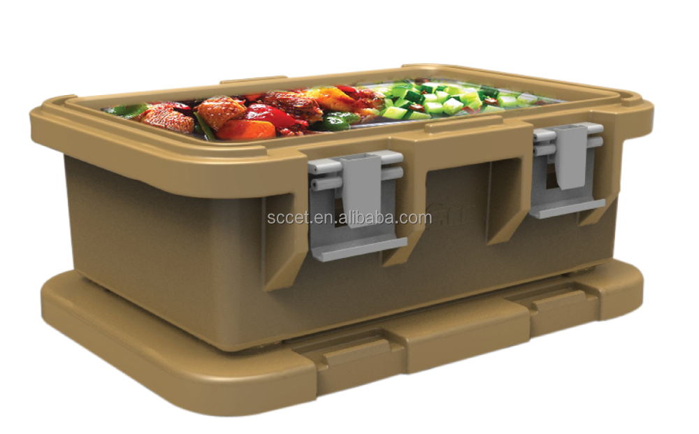 Cafeteria Food Pans ~ Cafeteria insulated thermal food box gn pan carrier