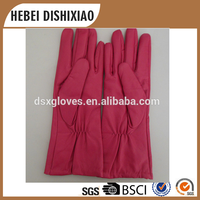 Cheap price Customize Lady Long Style Leather Gloves Pink Gloves Wool Ling