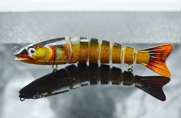 Perfect multi-section saltwater fishing trout lures wholesale swimbaits