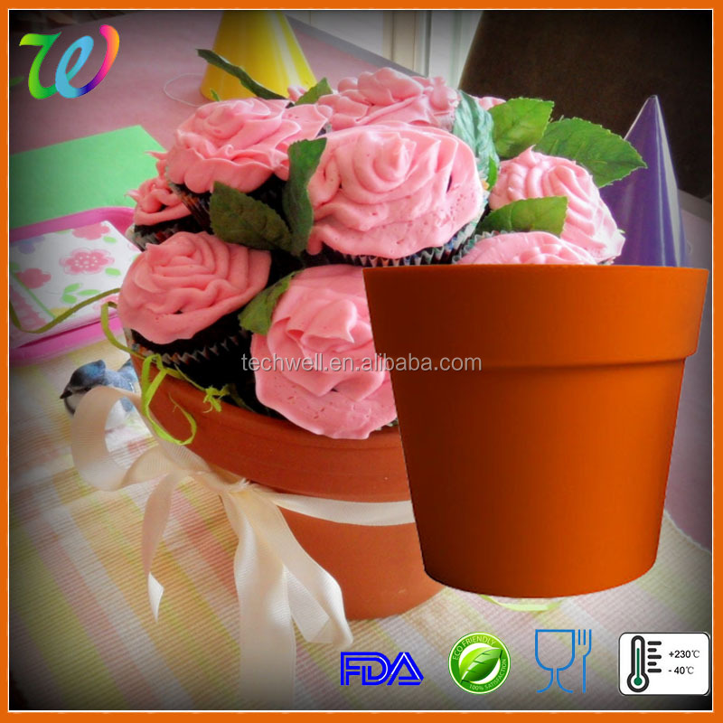 Hot sale silicone blossom pot cupcake holder