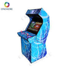 32 inch LCD wooden fighting games machine upright arcade cabinet for shopping center
