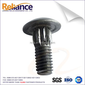 Slotted Round Head High Strength Wheel Bolt With Knurling For Auto Car