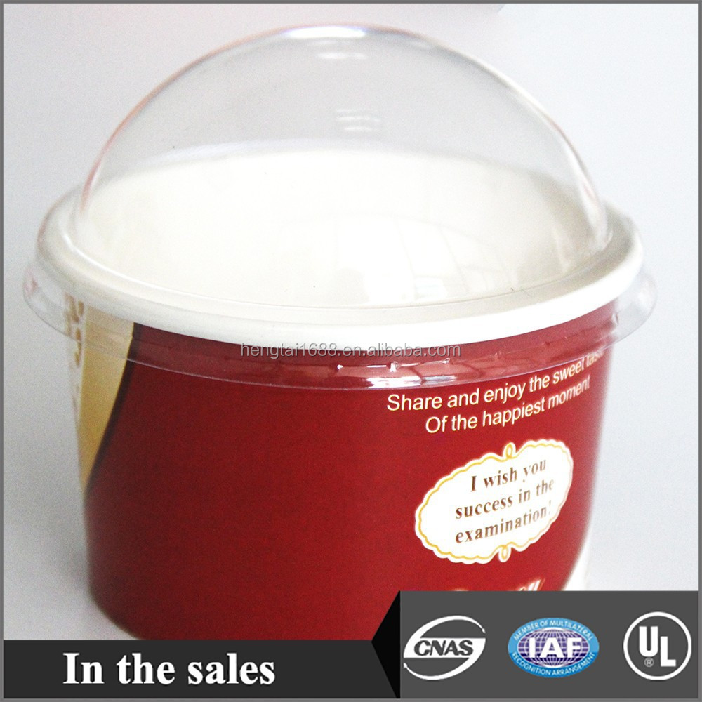 plastic dome lid for ice cream
