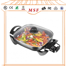 Electric Square Frying Grill Pan With 2 Layer Non-stick Coating