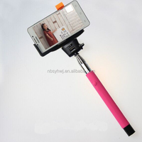 2015 Factory supply wireless bluetooth selfie stick monopod with shutter remote for iphone and Andriod