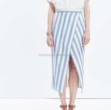 Striped Overlay Maxi Skirt Long Skirts Pictures Of Long Ladies Skirts For Women HSS5256