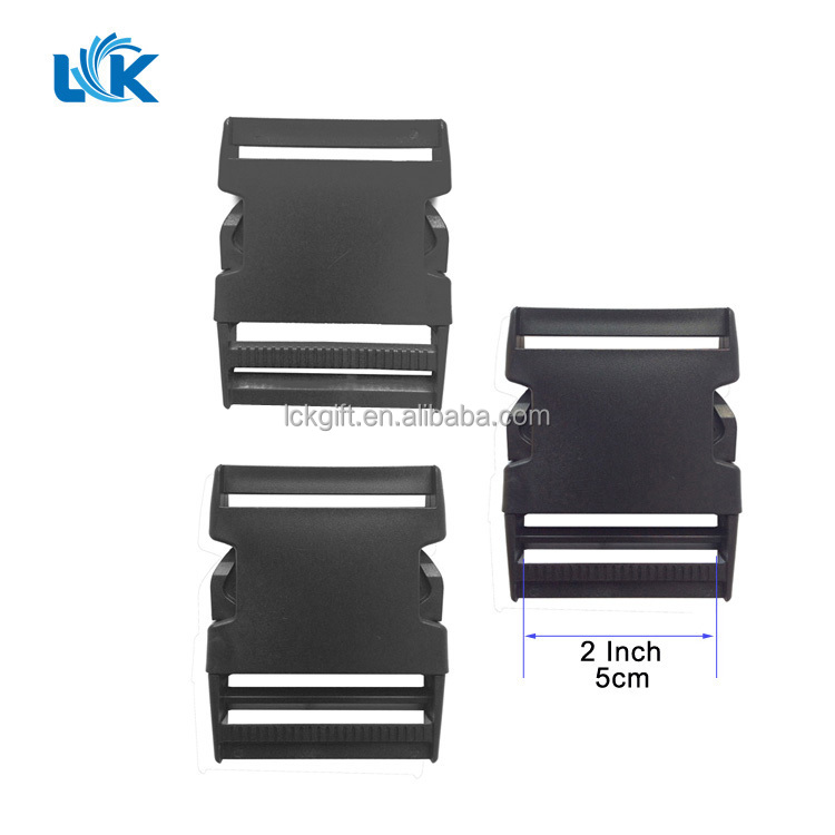 Bag accessories Adjustable Plastic Dual Pinch 50mm 5cm 2 inches Side Release Buckle