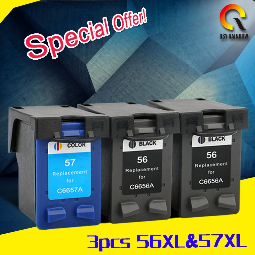 Polished quality and full powder 2017 printer ink cartridge for hp 56XL/57XL