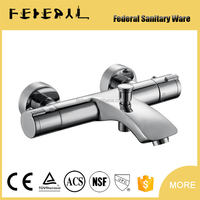Round Wall Mounted Thermostatic Shower Fauce Single Handles Auto-Thermostat Control Valve Bathroom Bath Faucet Taps