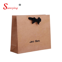 2018 Print Apparel Shopping Large Mini Cheap Brown Paper Bags With Handles