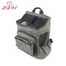 Canvas dog hiking backpack pet carrier cat travel bag airline approved