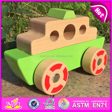 2015 cunstom children wooden model train,best sale wooden train toy for baby W04A082