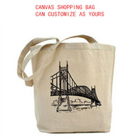 2015cheap high quality Canvas shopping bag simple cotton lady's handbag for shopping FW15940