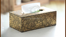 Leather Decorative Tissue Box/Holder for Hotel or office, Wholesale price leather napkin box , faux leather tissue box holder