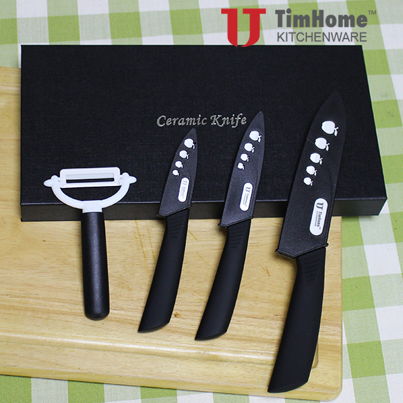 ceramic knife set ceramic fruit knife chef knife with peeler in gift box