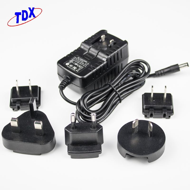 CE approved 12V 1A 12W 5V 2A 5V 1A 5V 2.5A 5V 1.5A 5V 0.5A USB interchangeable USB conencter power adapter