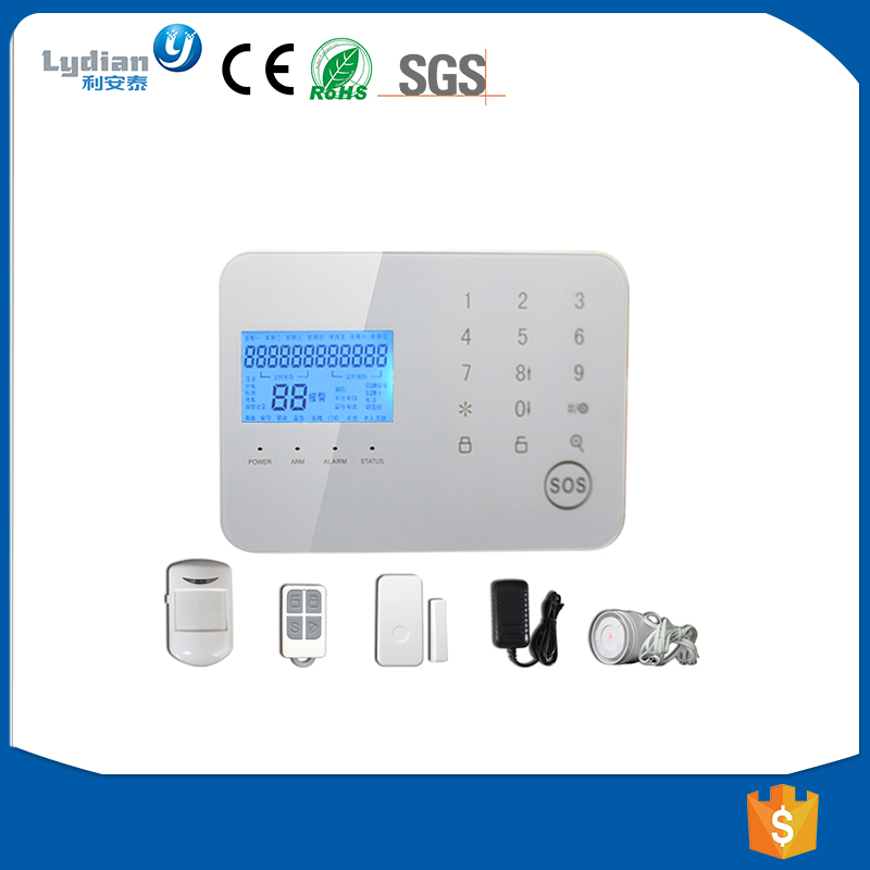 2017 High Quality Smart Home Security Wireless GSM Alarm System with IOS/Android APP control