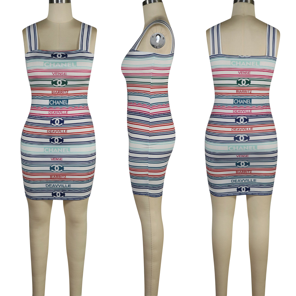 lady dress cocktail hot striped  women dresses summer sexy